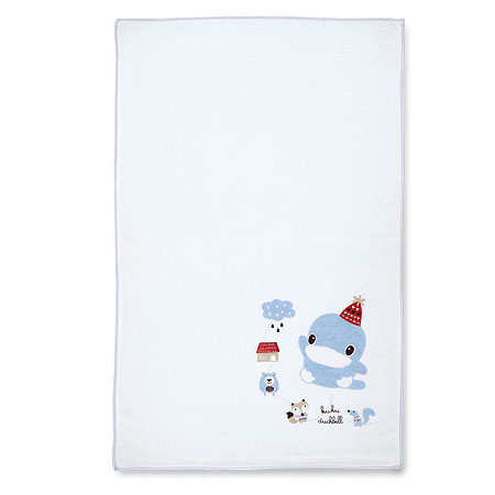 狐狸熊單印緹花紗布澡巾-2入