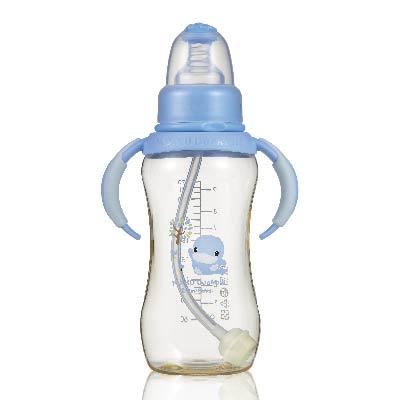 新防脹氣PES葫蘆成長奶瓶280ml