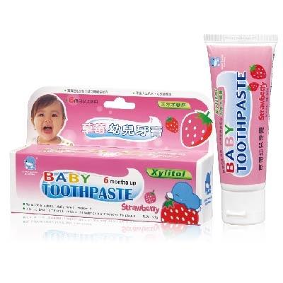 酷咕鴨草莓牙膏