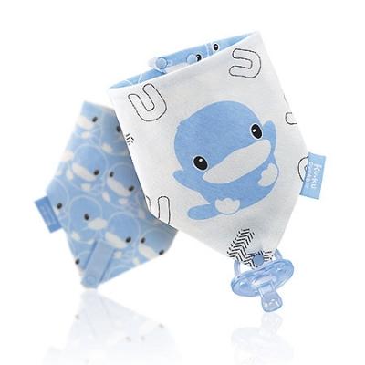 三角扣帶領巾-俏皮酷鴨