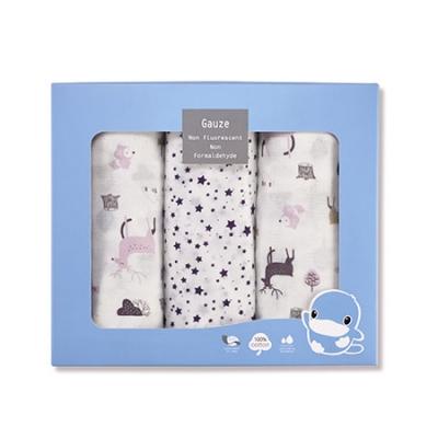 北歐迷境森林紗布大浴巾禮盒-3件組