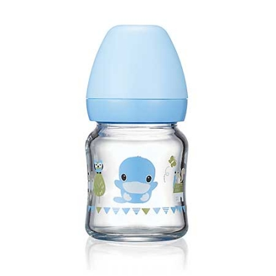 超矽晶寬口玻璃奶瓶-120ml