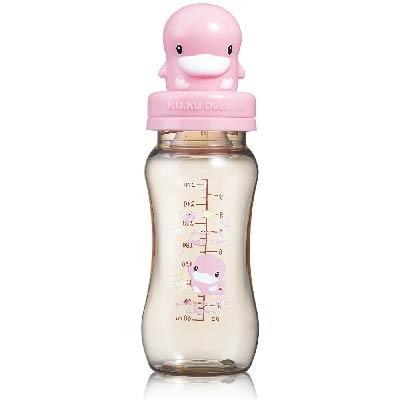酷咕鴨造型PES防脹氣寬口葫蘆奶瓶-280ml