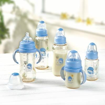 新防脹氣PES寬口葫蘆成長奶瓶280ml