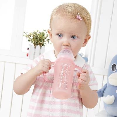 寬口徑矽膠果凍奶瓶-240ml