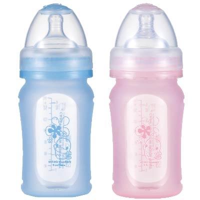 寬口徑矽膠果凍奶瓶-160ml