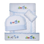 7-Piece Crib Bedding Set-Grace Forest