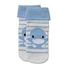 柔彩條紋反折襪