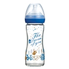 The Dream of You Glass Wide-Nick feeding bottle-240ml (Dark Blue)